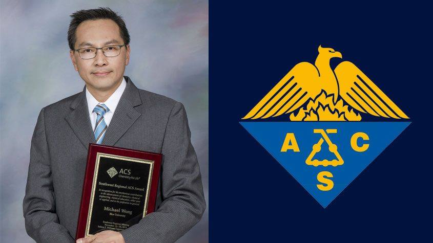 NEWT Faculty Michael S Wong receives the 2019 Southwest Region American Chemical Society Award