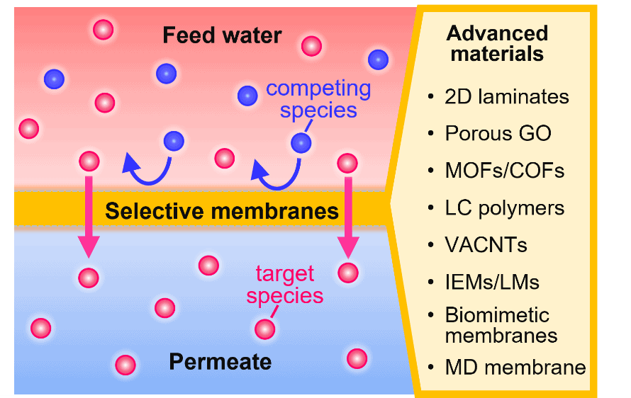 Selective Membranes in Water and Wastewater Treatment: Role of Advanced Materials